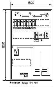 1T Mittauskeskus IP30 Boxer 3418 K