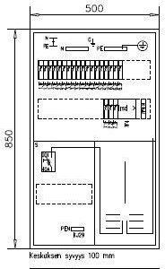 1T Mittauskeskus IP30 Boxer 3421 K