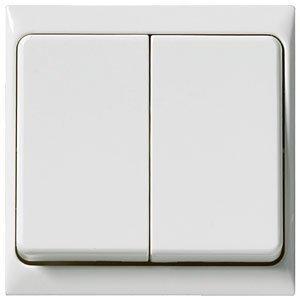 Artic 6+6-kytkin valkoinen