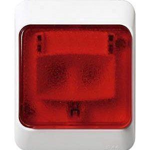 Artic punainen merkkivalo pinta IP44 valkoinen