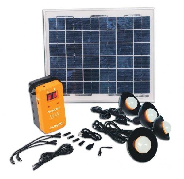 Aurinkoenergiapakkaus 4 X 1