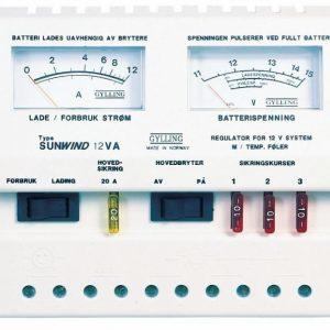 Aurinkopaneelin lataussäädin Sunwind 12VA analoginen