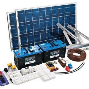 Aurinkosähköjärjestelmä Naps Medium 140 W 2x115 Ah avoin akku