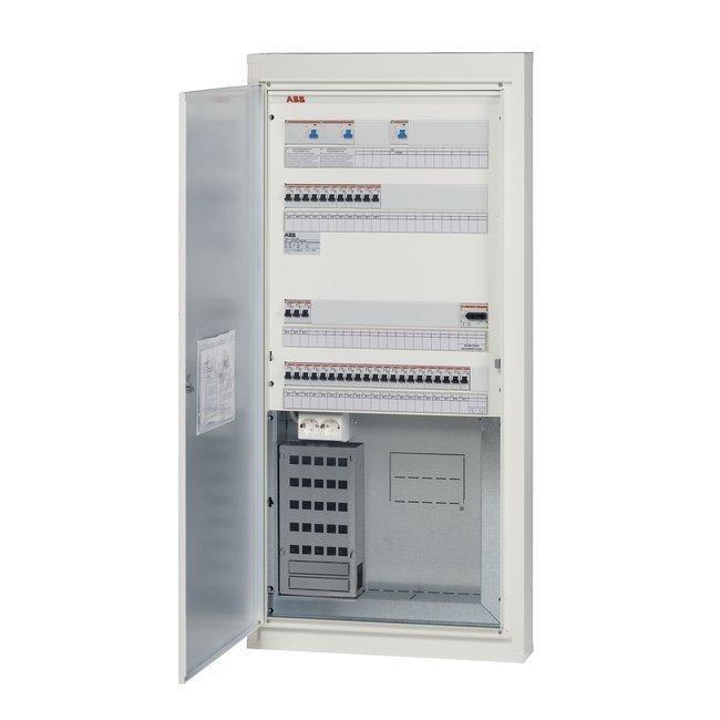 Data-ryhmäkeskus COMBI5E38S25 50A IP20C uppo/pinta