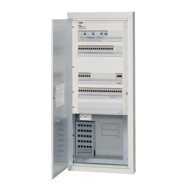 Data-ryhmäkeskus COMBI5E44S25 50A IP20C uppo/pinta