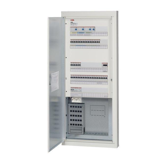 Data-ryhmäkeskus COMBI5E44SLV25 50A IP20C uppo/pinta