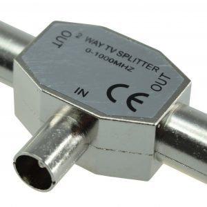 Electrogear Metallinen Antennijakopistike U/2n