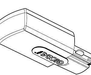 Jatkokappale Global Trac GB21-1 harmaa
