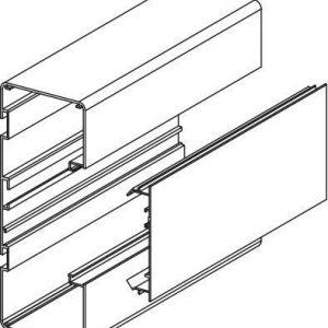 Johtokanavan runko Ductel Twist 170x65 TB1710-1 alumiini