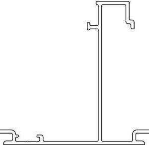 Johtokanavan runko Ductel Twist 170x65 TB1740-1 alumiini