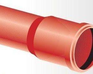 Kaapelinsuojaputki punainen TEL OPTO A 100x4