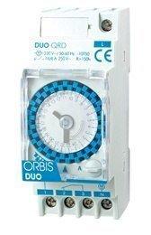 Kellokytkin Orbis DUO QRD 16A/250V 30min varakäynti 150h vaihtokosketin