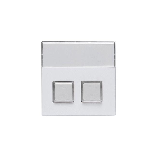 Keskiöosa Impressivo 2-nappinen valkoinen