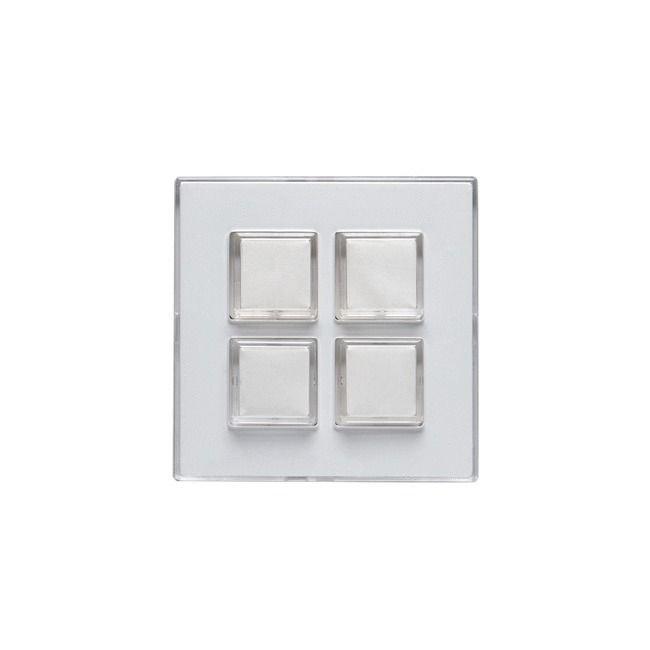 Keskiöosa Impressivo 4-nappinen valkoinen