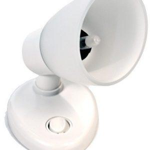 Kohdevalaisin Opal2 valkoinen säädettävä Ø 68 mm 12 V aurinkosähkö