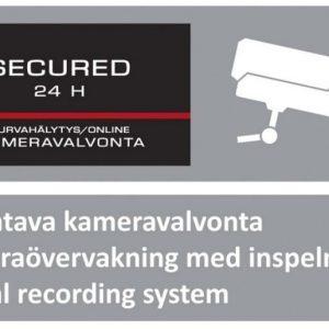 Kotikamera Kotihälytin.fi varoituskyltti 1 kpl keskikoko