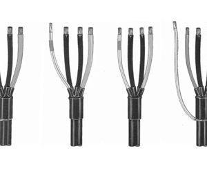 Kutistepääte 1kV 3-sorminen XVKU 13150 50-150 mm²