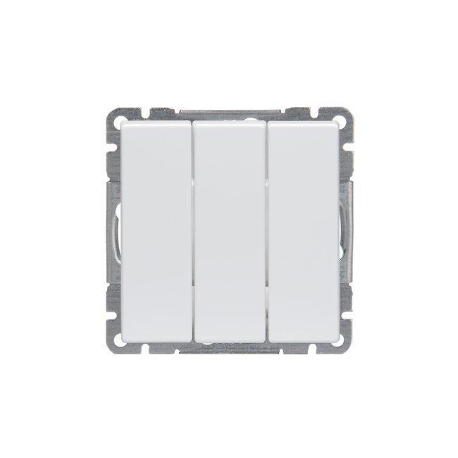 Kytkin Impressivo 1+1+1/16AX/250V/IP21UKJ 0X valkoinen