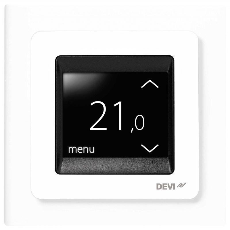 Lämmönsäädin DEVIreg Touch kirkkaanvalkoinen