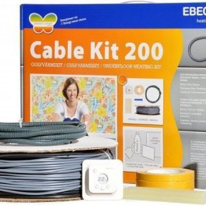 Lämpökaapeli Ebeco Cable Kit täydennyssarja 107m 1180W