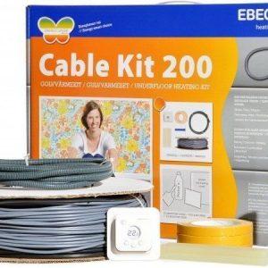 Lämpökaapelipaketti Ebeco Cable Kit 200 107m 1180W