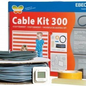 Lämpökaapelipaketti Ebeco Cable Kit 300 124m 1380W