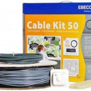 Lämpökaapelipaketti Ebeco Cable Kit 50 58m 650W