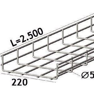 Lankahylly sähkö Zn 2.5m 53/45/4mm