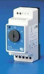 Lattiatermostatti DIN-kiskoasennukseen ETV-1991