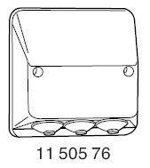 Liitäntäkansi IP44 3-johd. RLK 43