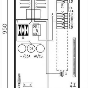 Mittauskeskus UTU Collie 3806P63 2T+PR+Y 2T IP34