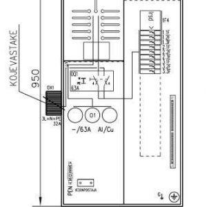 Mittauskeskus varavoima UTU Collie 3806P63 1T+PRG IP34
