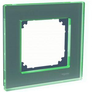 Peitelevy 1-osainen lasi musta Exxact Solid