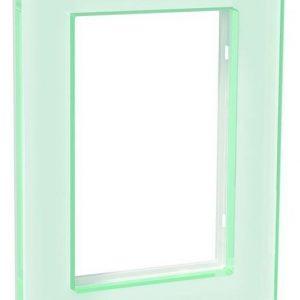 Peitelevy 1-osainen lasi valkoinen 2-os pistorasiaan Exxact Solid