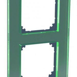 Peitelevy 2-osainen lasi musta Exxact Solid