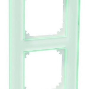 Peitelevy 2-osainen lasi valkoinen Exxact Solid