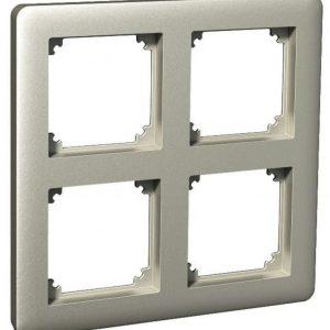 Peitelevy 2x2-matriisikehys metalli Exxact Primo