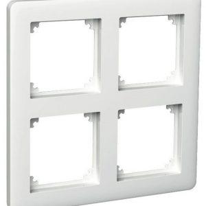 Peitelevy 2x2-matriisikehys valkoinen Exxact Primo