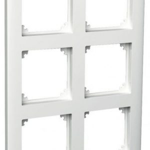 Peitelevy 2x3-matriisikehys valkoinen Exxact Primo