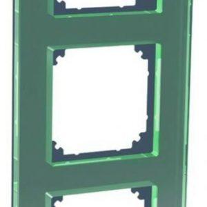 Peitelevy 3-osainen lasi musta Exxact Solid