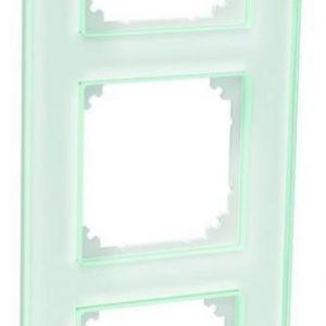 Peitelevy 3-osainen lasi valkoinen Exxact Solid
