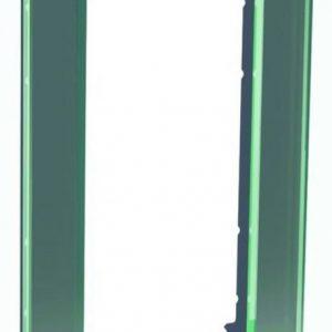 Peitelevy avoin 1-osainen lasi musta Exxact Solid