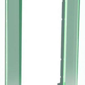 Peitelevy avoin 2-osainen lasi titaani Exxact Solid