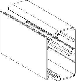 Pienkanavan runko Ductel Twist TBA 302-1 65x31 alumiini
