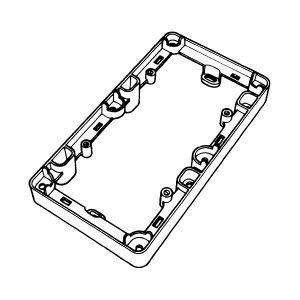 Pinta-asennuskotelo 2-osainen h='20mm' IP21 valkoinen
