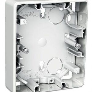 Pintakojerasia 1-osainen 21 mm valkoinen 2-os pistorasiaan Exxact