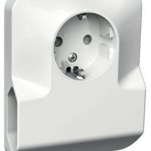 Pistorasia 1-osainen + 2x europistorasia UPJ 2X valkoinen Exxact
