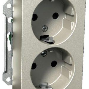 Pistorasia 2-vaiheinen 2-osainen 2X UKJ metalli Exxact