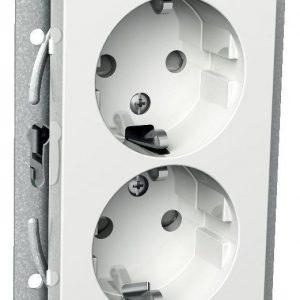 Pistorasia 2-vaiheinen matala 2-osainen 2X UKJ valkoinen Exxact