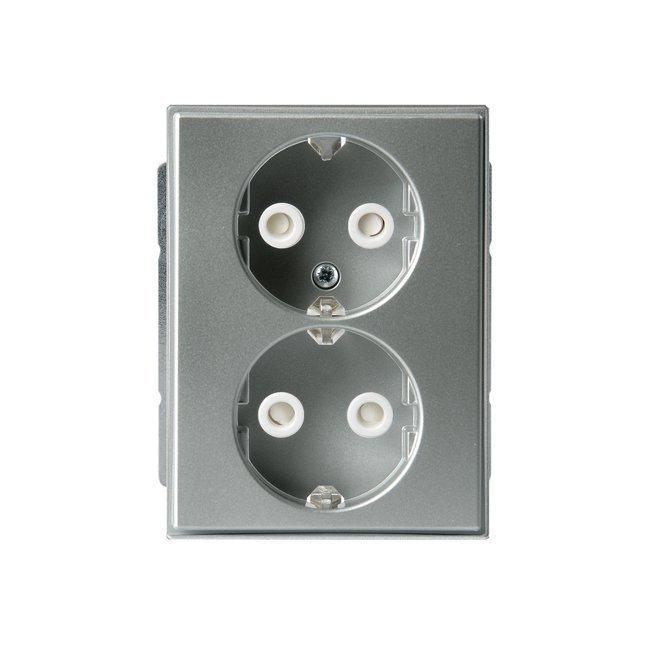 Pistorasia Impressivo 2S/16A/IP21 UKJ HL alumiini